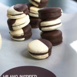 Black & White French macarons by Angela Roberts