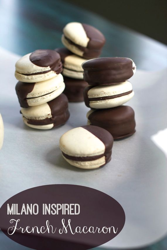 Black & White French Macarons: Guest Post at the Heritage Cook