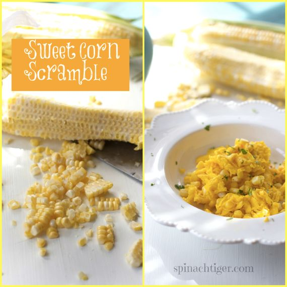Sweet Corn Scramble Eggs by Angela Roberts