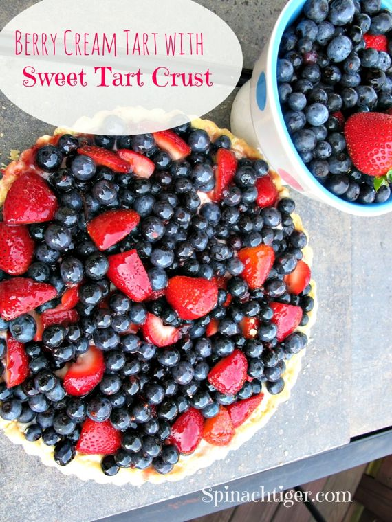 Berry Cream Tart by Angela Roberts