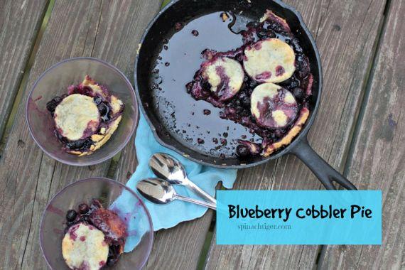Blueberry Pie Cobbler Using Frozen Berries by Angela Roberts