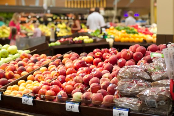 Produce at Grand Opening at Kroger Marketplace in Franklin by Angela Roberts