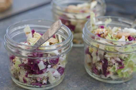 How to Make Crunchy Slaw with Marcona Almonds, Caraway Vinaigrette by Angela Roberts