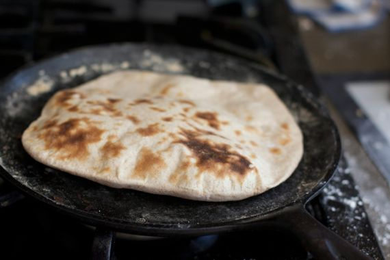 Baked Naan with Spelt Flour by Angela Roberts