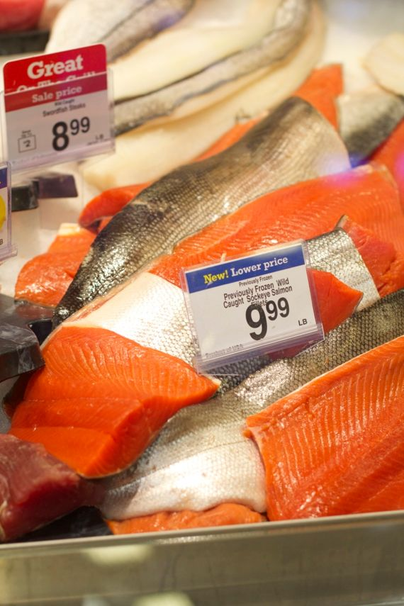 Salmon at Kroger Marketplace in Franklin by Angela Roberts