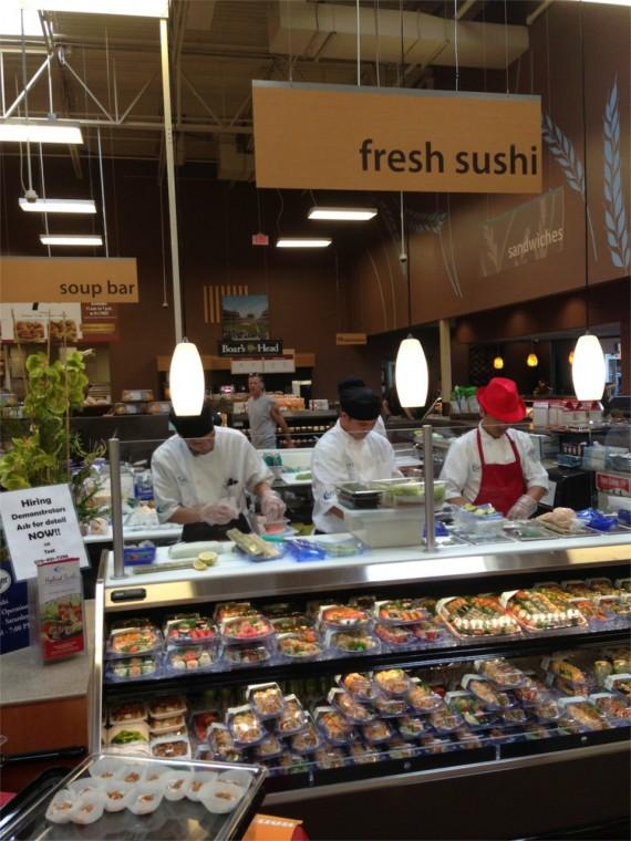 Superb Fresh Sushi at Kroger Marketplace by Angela Roberts