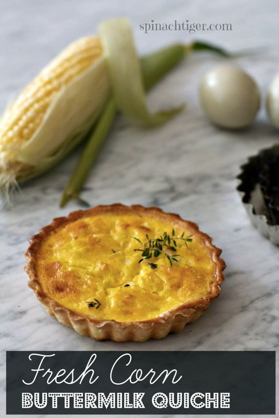 Fresh Corn off the Cob Buttermilk Quiche