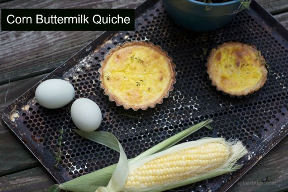Corn off the cob quiche by Angela Roberts