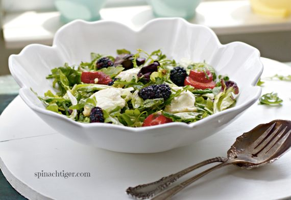 Honey Baked Goat Cheese Salad with Lemon vinaigrette by Angela Roberts