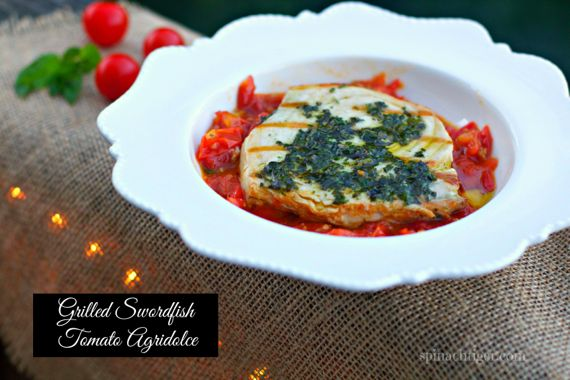 Swordfish Agridolce, Italian Sweet & Sour by Angela Roberts