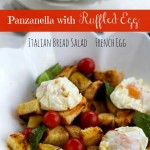 Panzanella with Brioche, Cherry Tomatoes, Tabasco, Ruffled Eggs
