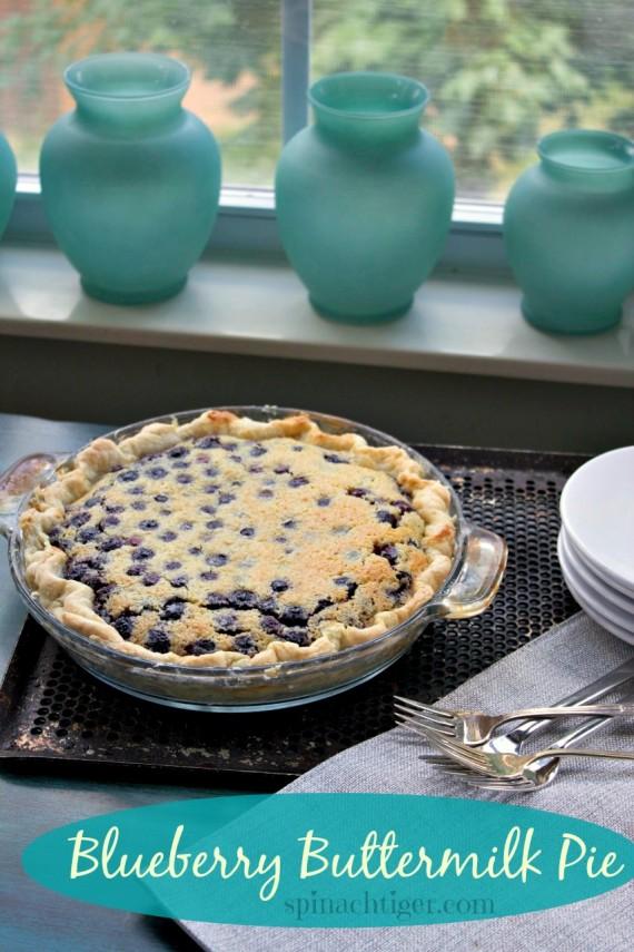 Blueberry Buttermilk Pie by Angela Roberts