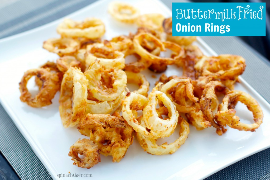 Buttermilk Fried Onion Rings - Spinach Tiger