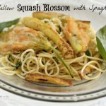 Squash Blossoms with Spaghetti