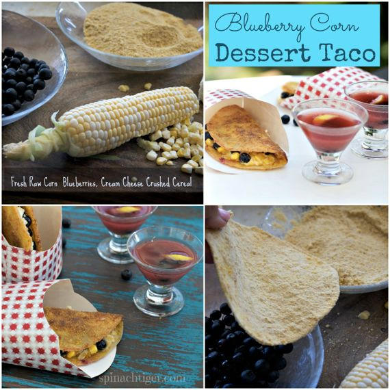 Blueberry Cream Cheese Taco with Fresh Corn by Angela Roberts