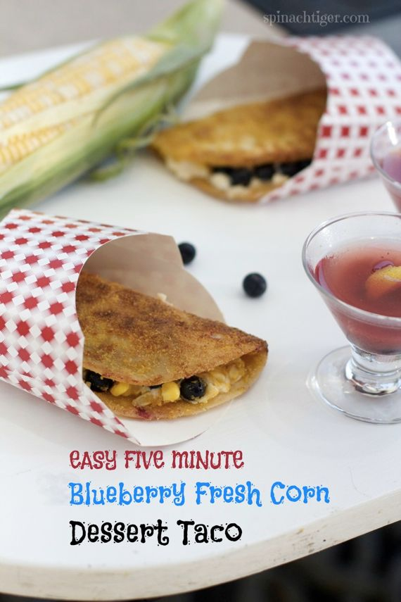 Blueberry Cream Cheese Dessert Tacos Celebrate the New Bar Food