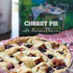 Rainier Cherry Pie with Lattice Top by Angela Roberts