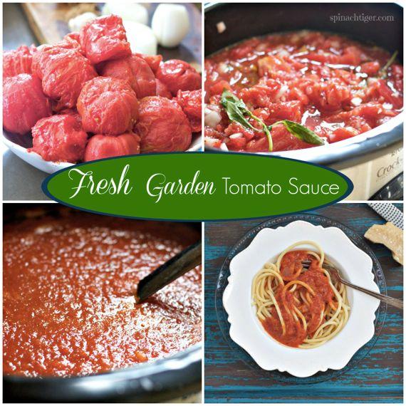 Garden Tomato Sauce Recipe with Fresh Basil