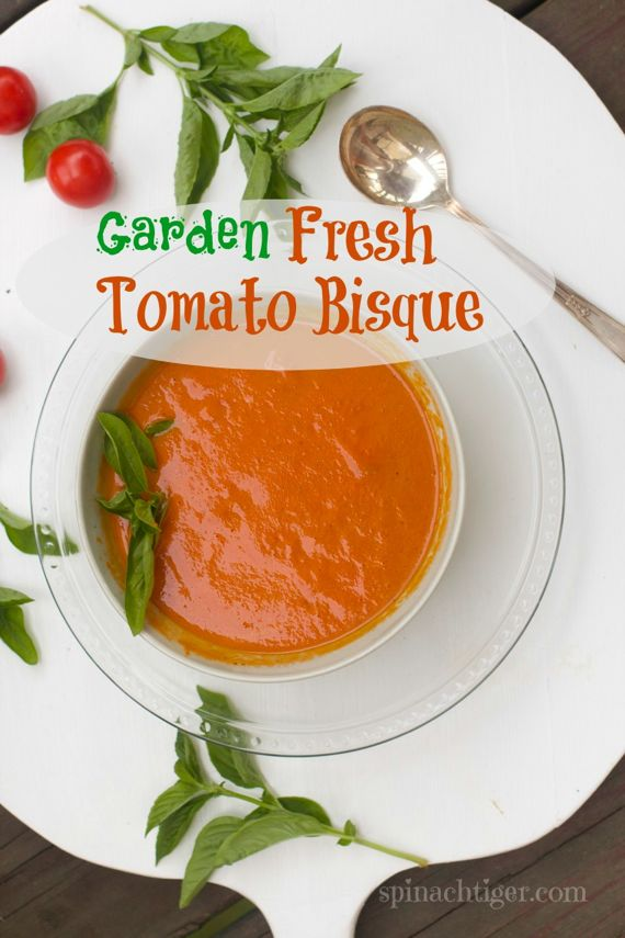 Tomato Bisque Soup Recipe with Fresh Tomatoes