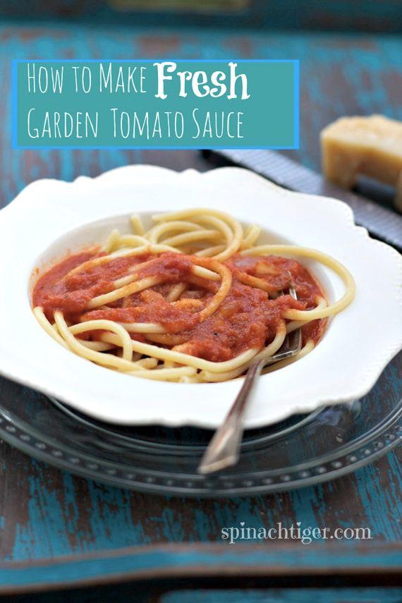 Fresh Garden Tomato Sauce 2 by Angela Roberts