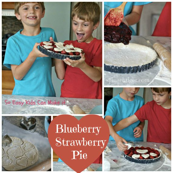 Best Blueberry Pie with Strawberries by Angela Roberts