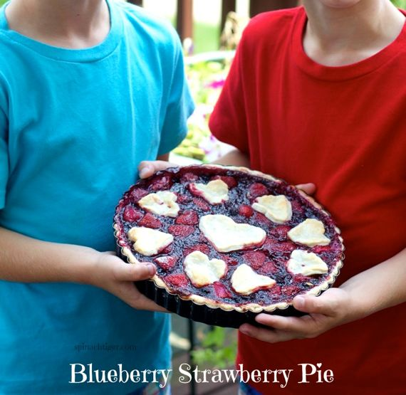 Best Blueberry Pie with Strawberries 2 by Angela Roberts
