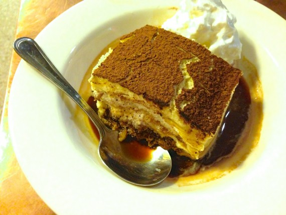Tiramisu at World Coffee Cafe by Angela Roberts