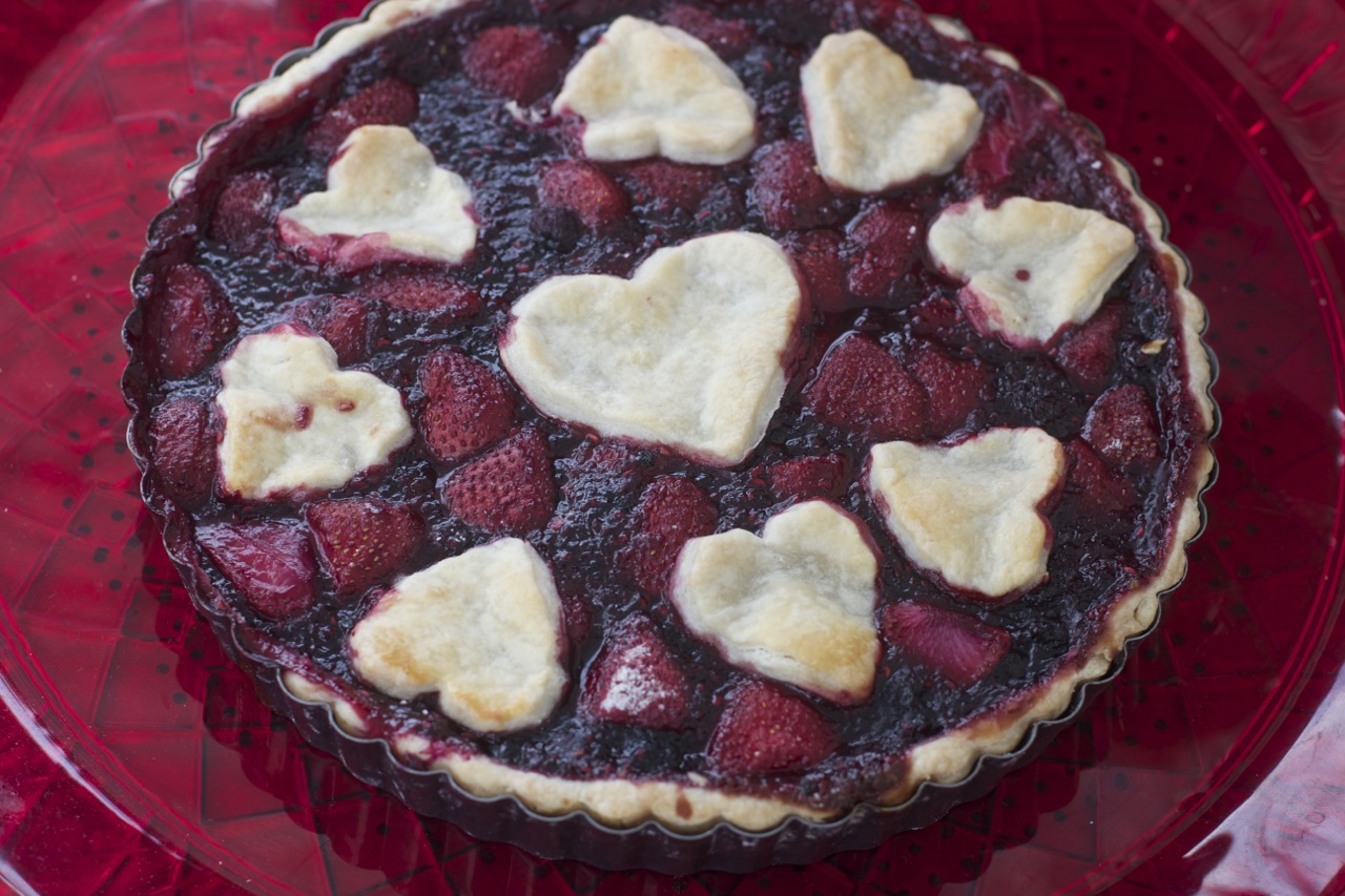 Blueberry Strawberry Pie by Angela Roberts