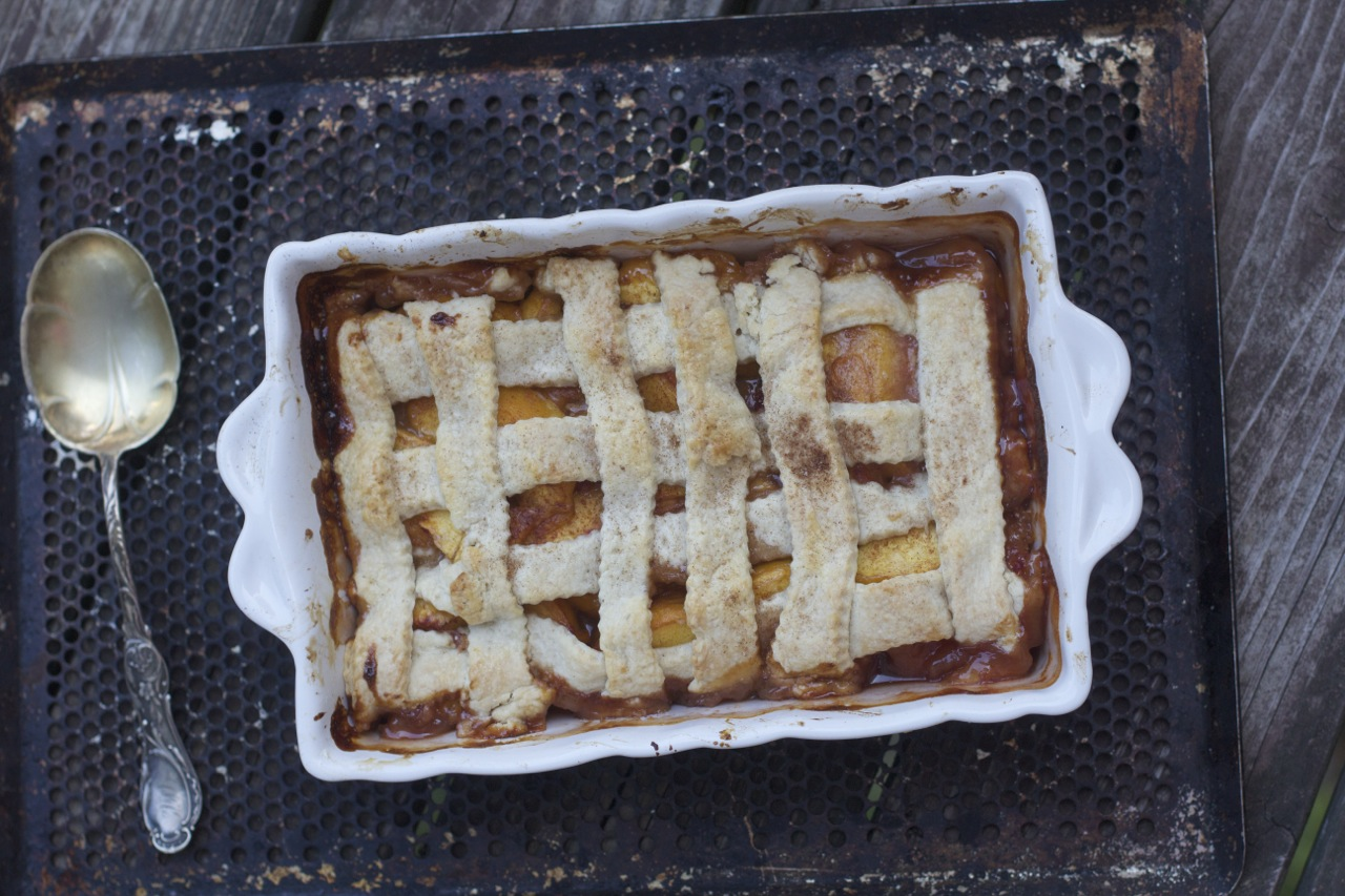 How to Make Old Fashioned Peach Cobbler by Angela Roberts