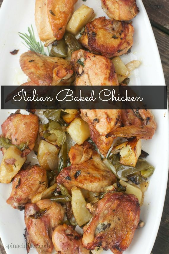 Italian Healthy Baked Chicken Recipe Spinach Tiger