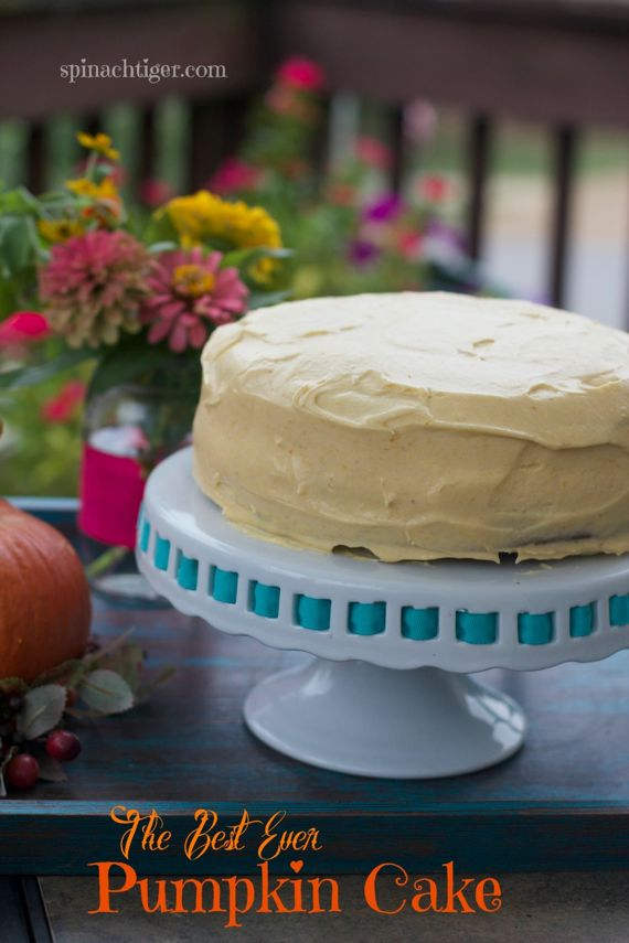 Pumpkin Cake with Pumpkin Maple Frositng by Angela Roberts
