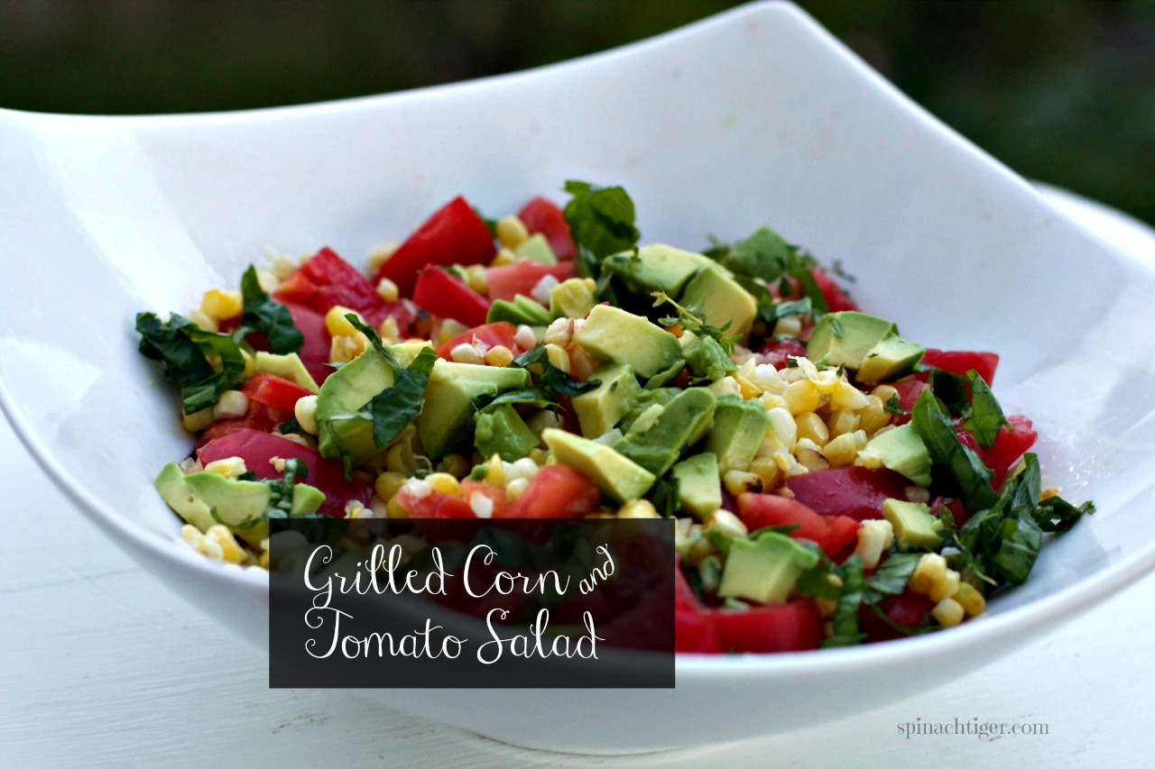 Grilled Corn and Tomatoes by Angela Roberts