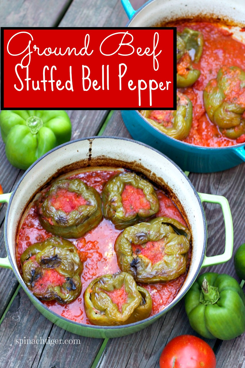 Ground Beef Stuffed Bell Peppers by Angela Roberts