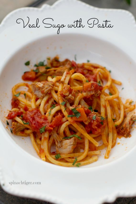 Veal Italian Sauce Recipe with White Wine and Tomato by Angela Roberts