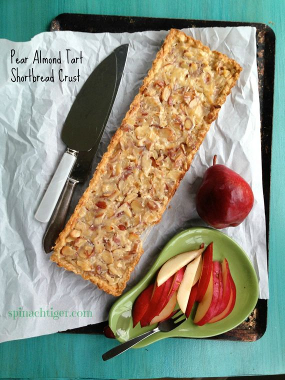 Easy Almond Pear Tart with Shortbread Crust