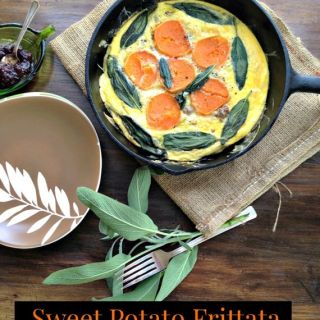 Sweet Potato Breakfast Frittata with Sage Sausage and a New Logo