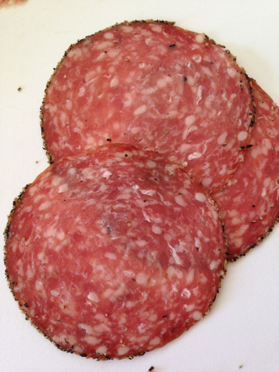 Peppered Salami by Angela Roberts