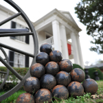 Lotz House Exterior - cannon balls with house