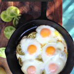 Baked Green Tomato Brunch with Oven Fried Eggs by Angela Roberts