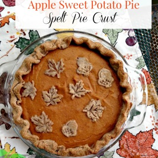 Sweet Potato Apple Pie with Spelt Crust, Sugar Free Option