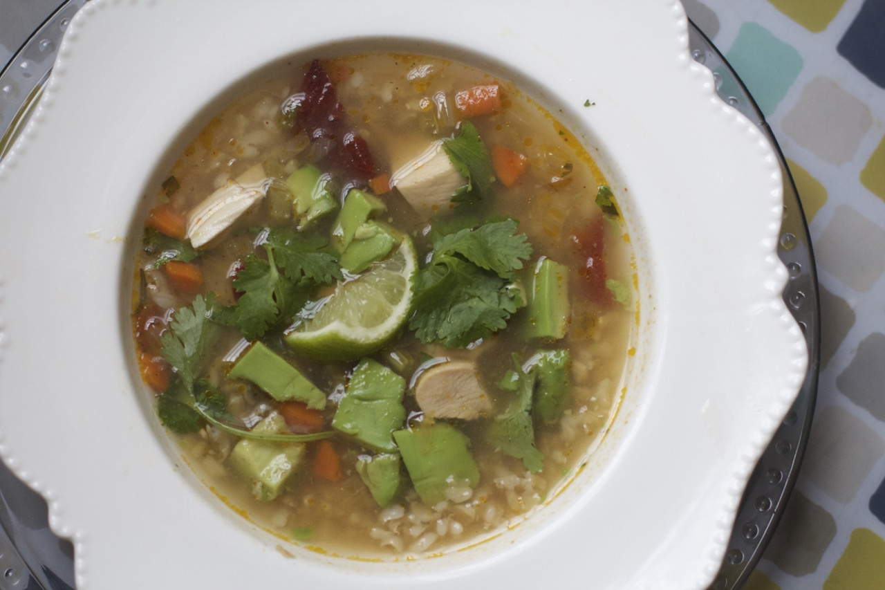 Mexican Chicken Rice Soup from Spinach Tiger