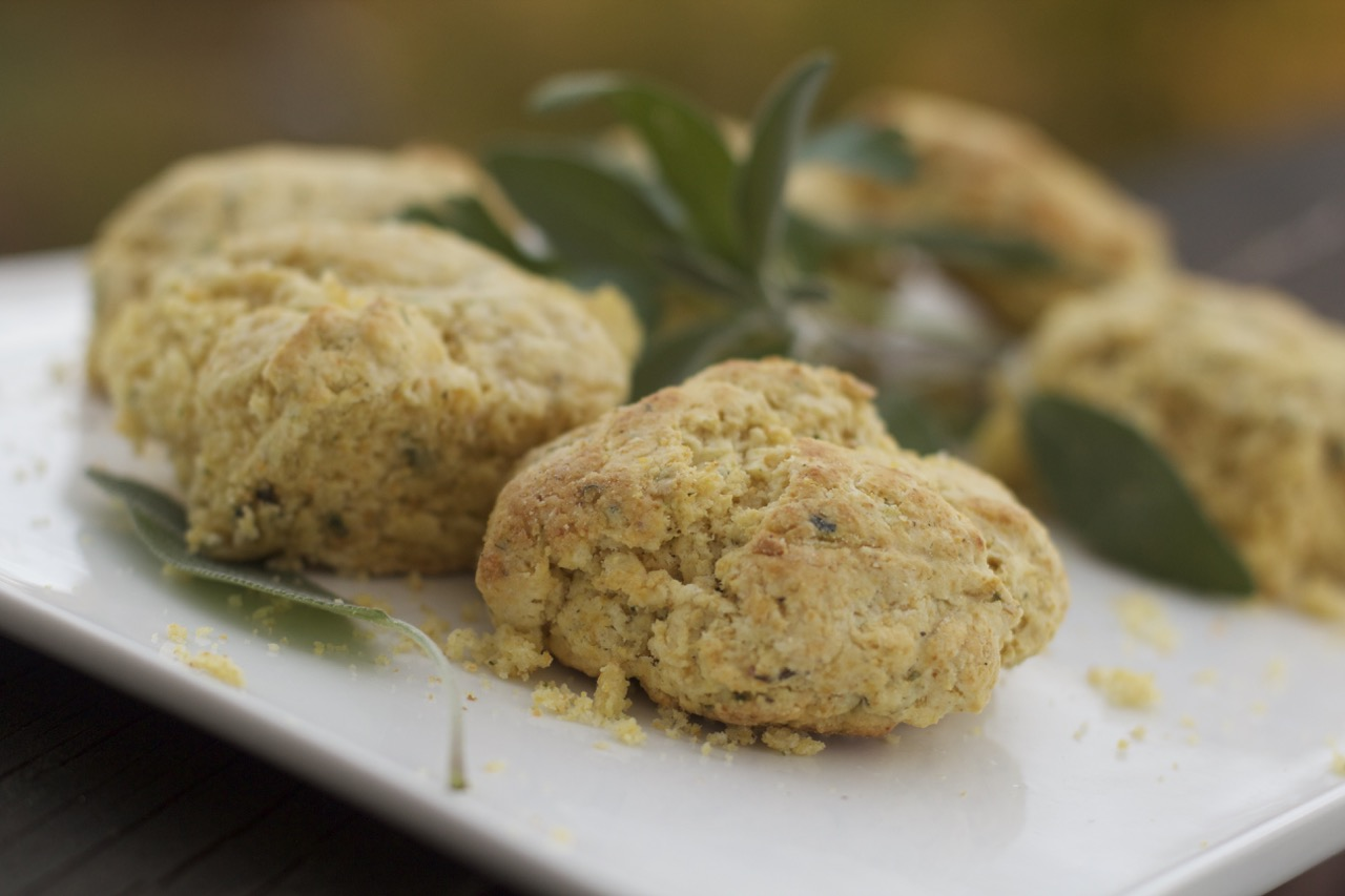 Sage Cornmeal Biscuits by Angela Roberts