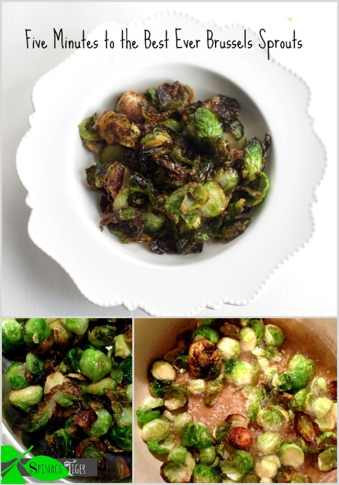 Flash Fried Brussels Sprouts by angela roberts