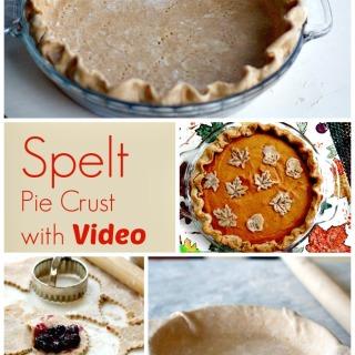 Spelt Pie Crust with Video