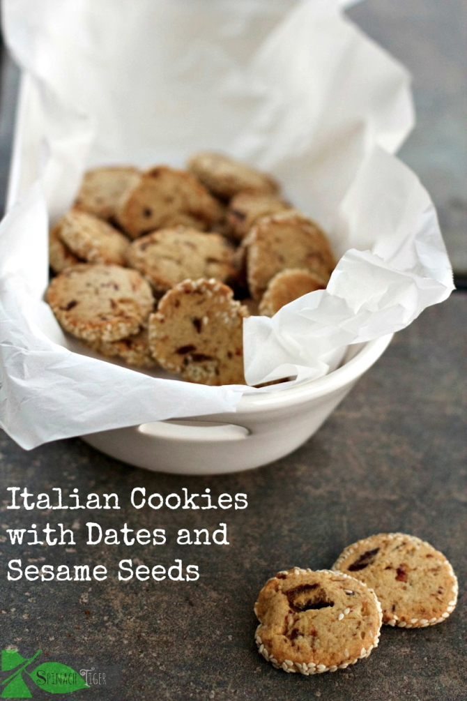 Italian Date Cookies with Sesame Seeds by angela roberts