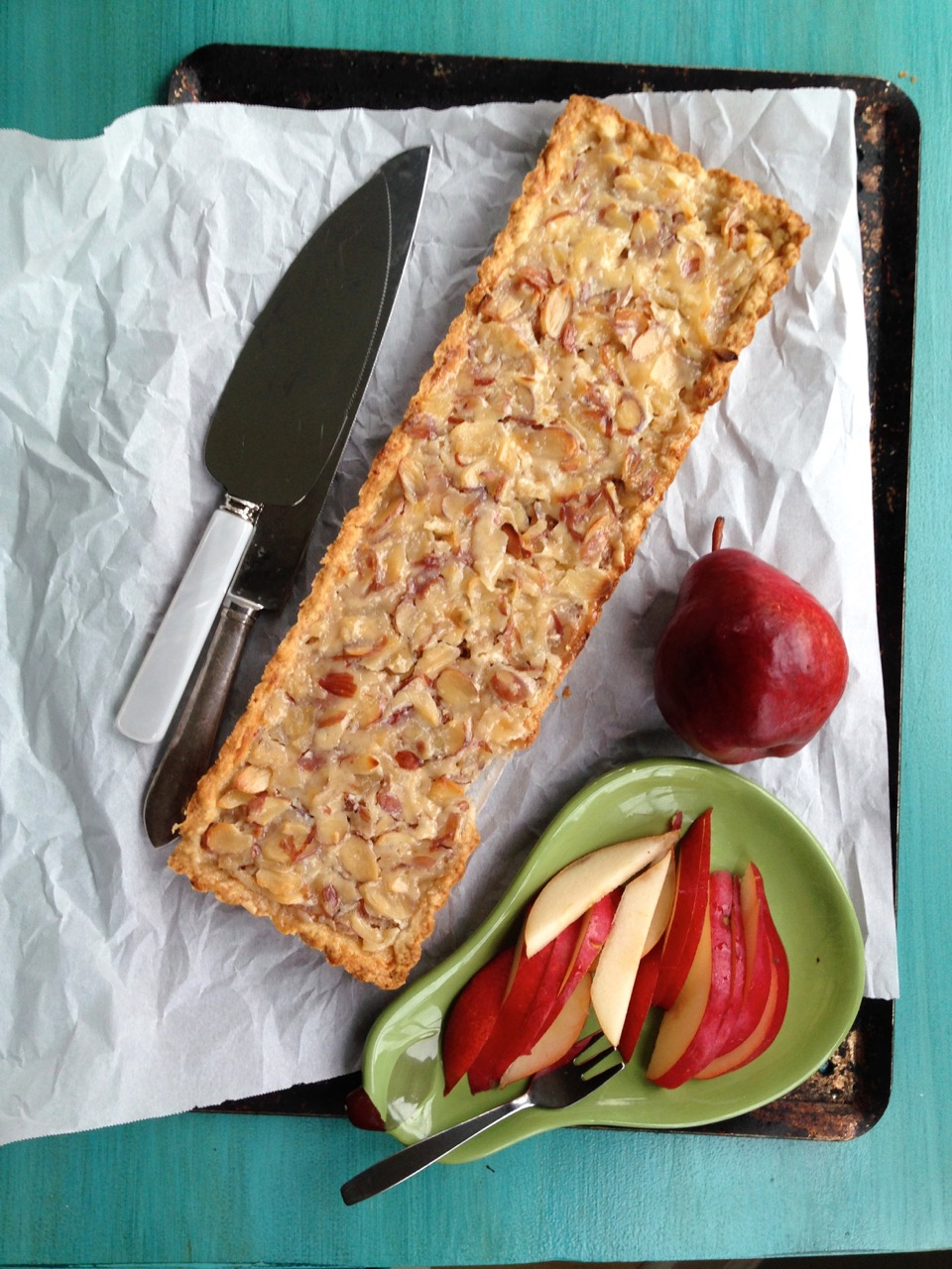 Pear Almond Tart from Spinach Tiger