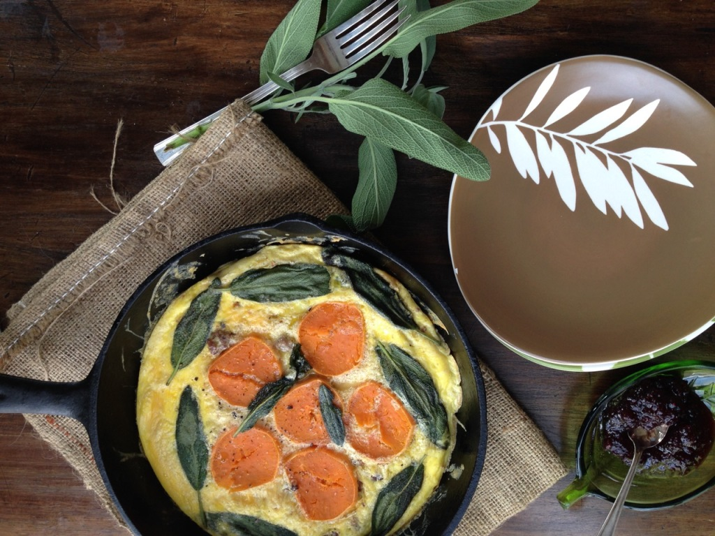 Sage Sweet Potato Frittata by Angela Roberts