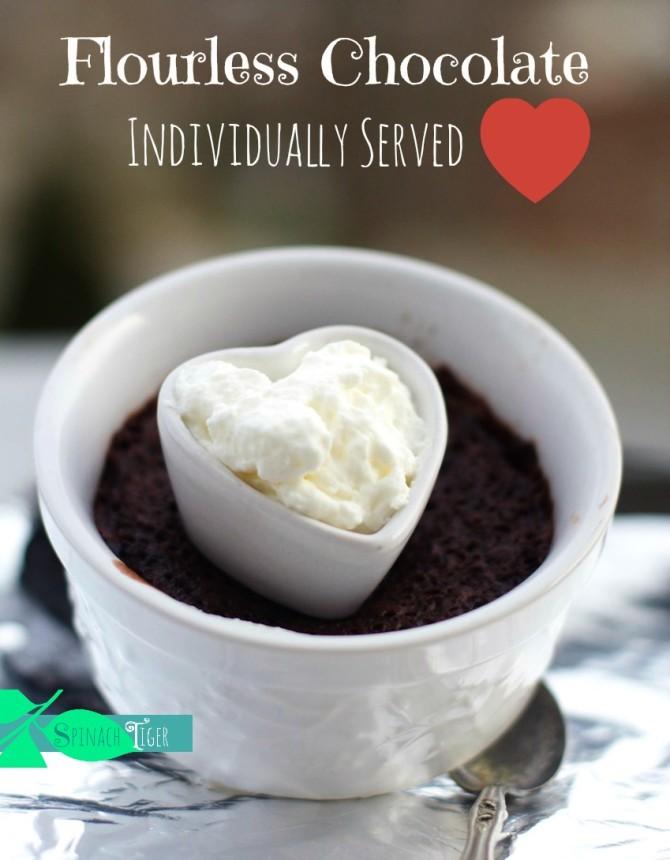 Individual Flourless Molten Chocolate Cake
