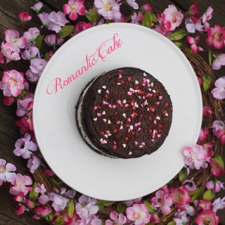Triple Layer Chocolate Fudge Cake Video with Whipped Cream Middle, Heart Sprinkles