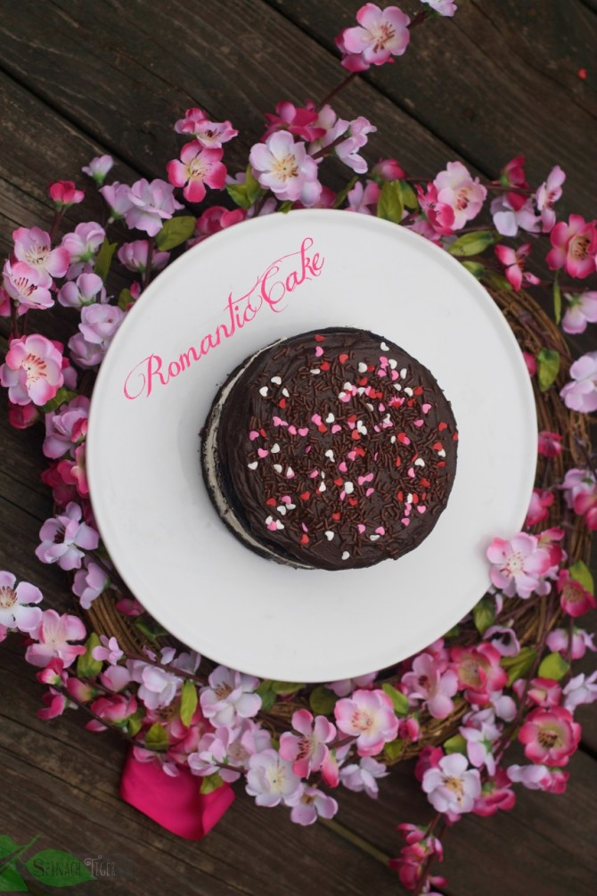 Romantic Cake for Two by angela roberts